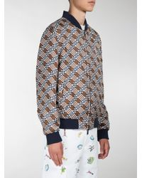 Fendi - Multicolor Check Print Reversible Bomber Jacket for Men - Lyst