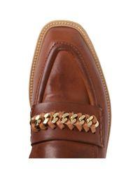 Stella McCartney - Brown Praline Chain Loafers - Lyst