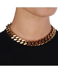 Stella McCartney - Metallic Chain Necklace - Lyst