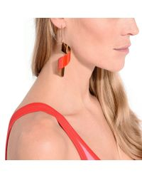 Stella McCartney - Multicolor Red Spiral Earring - Lyst
