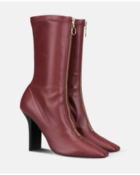 Stella McCartney | Purple Bordeaux Matte Alter Nappa High Ankle Boots | Lyst