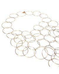 Stella McCartney - Yellow Rose Gold Brass Necklace - Lyst