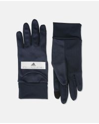 Adidas By Stella McCartney - Blue Black Running Gloves - Lyst