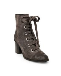 Steve Madden - Gray Aces Belt And Hardware Ankle Boots - Lyst