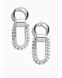 & Other Stories - Metallic Chain Earrings - Lyst