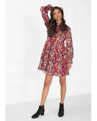 2af21c35d5d   Other Stories Floral-print Mini Dress in Red - Lyst