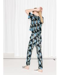 & Other Stories - Blue Water Lily Tailored Crop Trousers - Lyst