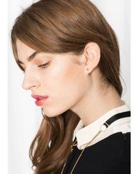 & Other Stories - Metallic Stud Earrings - Lyst