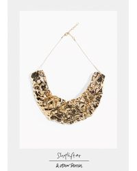 & Other Stories | Metallic Shoplifter Crease Please Collar Necklace | Lyst