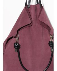 & Other Stories - Purple Suede Tote Bag - Lyst