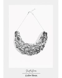 & Other Stories - Metallic Shoplifter Crease Please Collar Necklace - Lyst