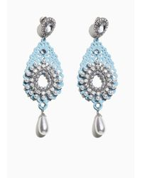 & Other Stories - Blue Pearl Crystal Earrings - Lyst