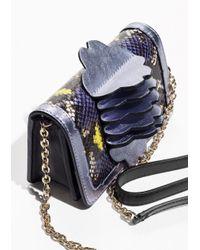 & Other Stories - Purple Leather Flower Shoulder Bag - Lyst