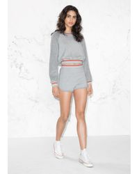 & Other Stories | Gray Jersey Shorts | Lyst