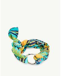 Stradivarius - Blue Set Of 2 Scarf Bracelets - Lyst