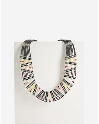 Stradivarius | Yellow Necklace With Thin Beads | Lyst