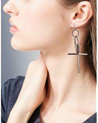 Stradivarius | Gray Set Of 3 Pairs Of Cross Earrings | Lyst