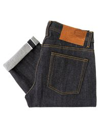 Naked & Famous - Blue Naked And Famous Slim Guy Dirty Fade Selvedge Denim for Men - Lyst
