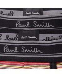 Paul Smith | Paul Smith 2 Pack Black Striped Trunk Amxa- for Men | Lyst