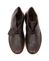 Clarks - Brown Beeswax Leather Desert Boots for Men - Lyst