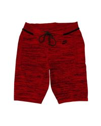 Nike | Tech Knit Red/black Shorts for Men | Lyst