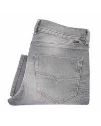 DIESEL | Gray Tepphar Grey Wash Denim Jeans for Men | Lyst