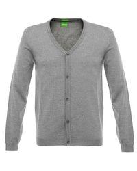 BOSS Green | Gray C-can 01 Ligh Grey Cardigan for Men | Lyst