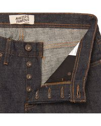 Naked & Famous - Blue Indigo Weird Guy Okayama Spirit 3 Selvedge Jeans for Men - Lyst