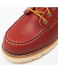 "Red Wing - Brown 6"" Classic Moc Toe Boot - Oro Russet for Men - Lyst"
