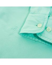 Hackett | Green Hackett Gmt Dyed Mint Oxford Shirt for Men | Lyst