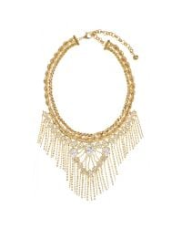 Shourouk | Metallic Cleo Necklace | Lyst