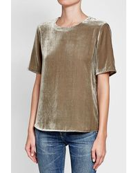 Vince - Multicolor Velvet Top With Silk - Lyst