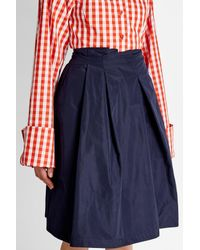 Jil Sander Navy - Blue Pleated Mini Skirt - Lyst