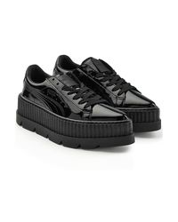 PUMA - Black Patent Leather Platform Creepers - Lyst
