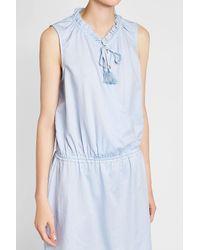 Heidi Klein - Blue Cotton Mini Dress - Lyst