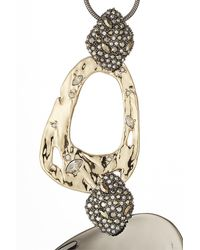 Alexis Bittar - Metallic 10kt Gold Necklace With Pyrite And Crystals - Lyst