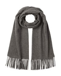 Polo Ralph Lauren - Gray Scarf With Cashmere And Wool - Lyst