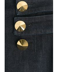 Roberto Cavalli - Black Straight Leg Jeans With Statement Buttons - Lyst
