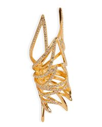 Eddie Borgo - Metallic Gold-plated Pave Wing Ring - Lyst