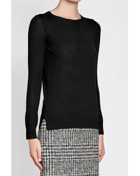 HUGO - Black Virgin Wool Pullover - Lyst