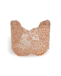 Aurelie Bidermann | Pink Rose Gold Lace Cuff | Lyst