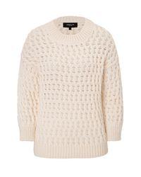 Derek Lam | Natural Long Sleeve Crew Neck Sweater | Lyst
