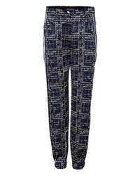 Ostwald Helgason | Blue Pixel Denim Detailed Pants | Lyst