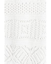 Emilio Pucci - White Wide Leg Crochet Pants - Lyst