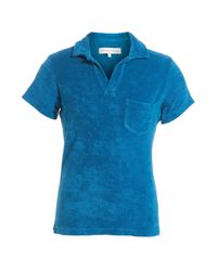 Orlebar Brown - Blue Cotton Terry Polo for Men - Lyst