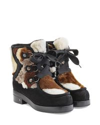 Laurence Dacade - Black Shearling And Suede Boots - Lyst
