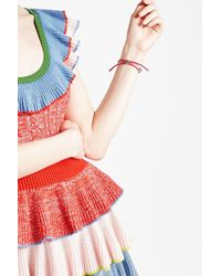 Alexander McQueen - Pink Leather Bracelet With Skull Motifs - Lyst
