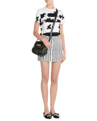 Marc By Marc Jacobs | White Striped Denim Skirt | Lyst