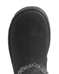 Ugg - Black Reese Embellished Sheepskin Boots - Lyst
