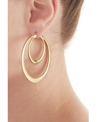 Kenneth Jay Lane | Metallic Gold-plated Hoop Earrings | Lyst